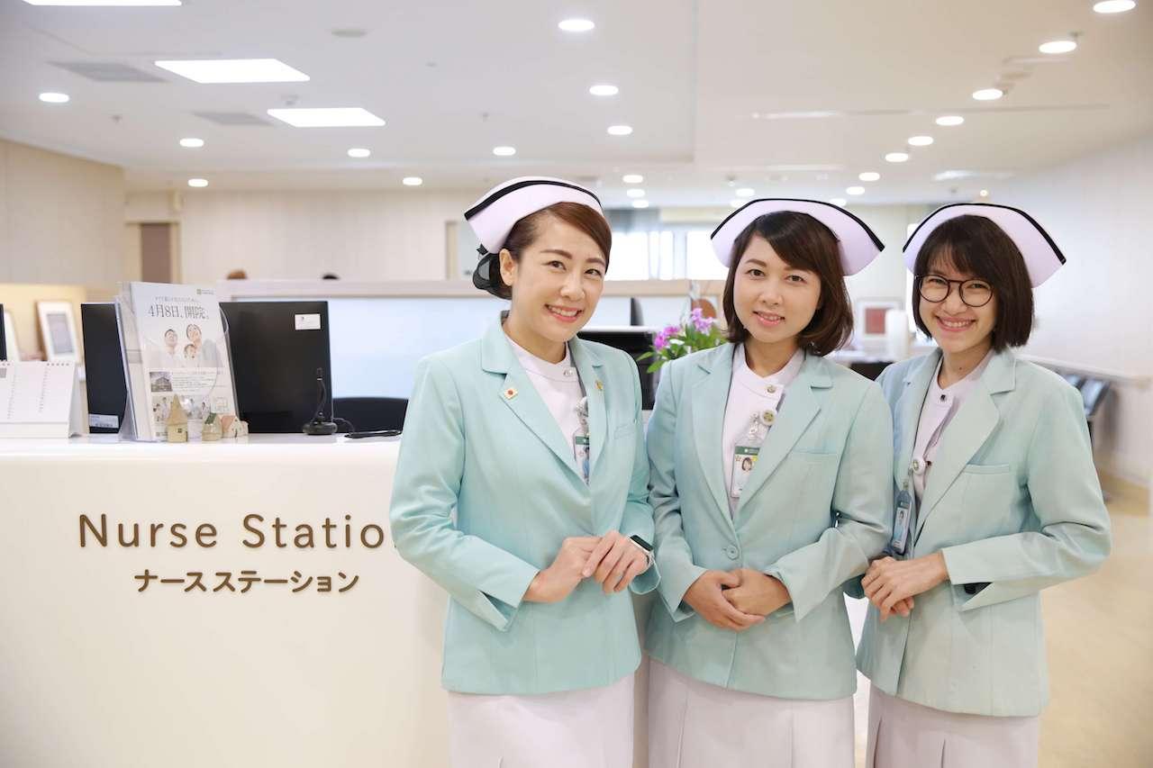 日本語でコミュニケーション可能なナースが常駐